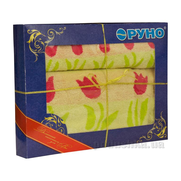 Набор махровых полотенец Руно Лалале желтый