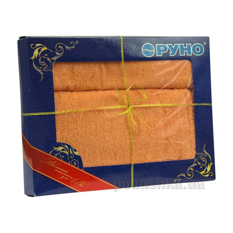 Набор махровых полотенец Руно персиковый