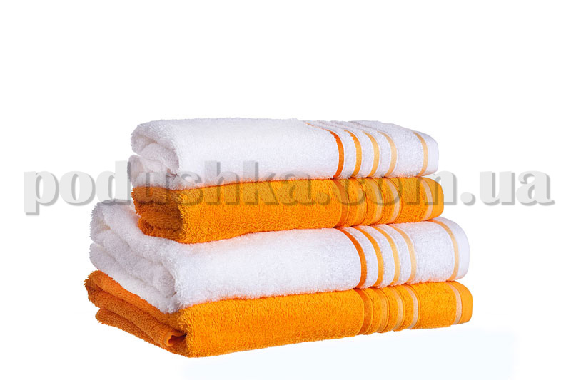Набор махровых полотенец SPRING оранжевый