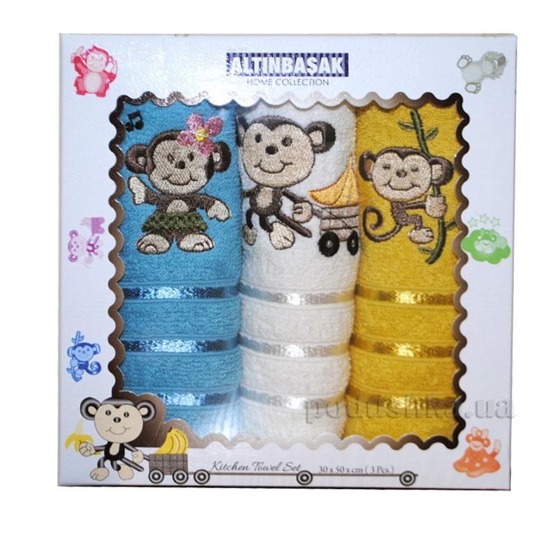 Набор махровых полотенец в коробке Altinbasak Carli