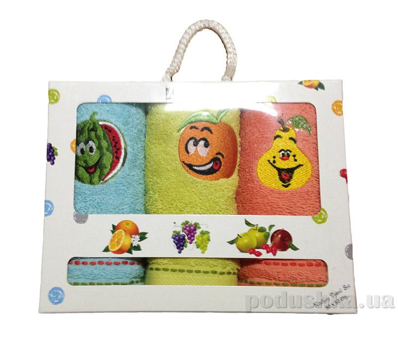 Набор махровых полотенец в коробке Altinbasak Merry fruit