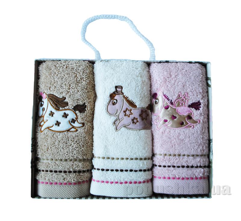 Набор махровых полотенец в коробке Altinbasak Лошади