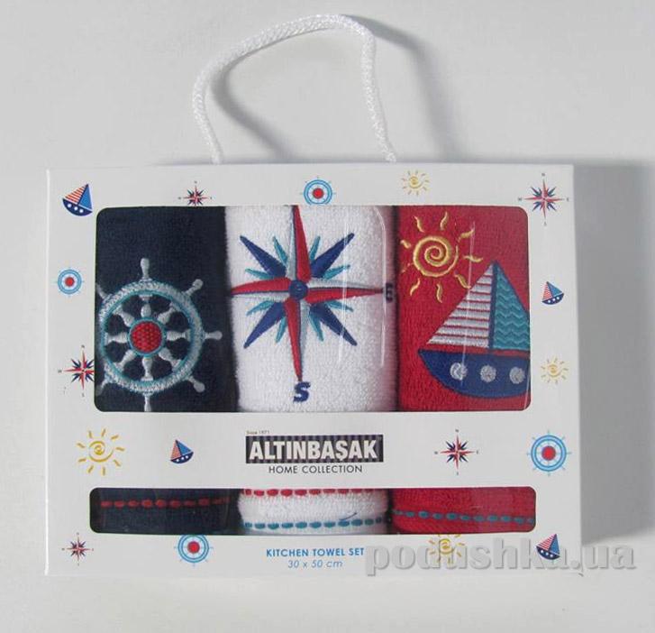 Набор махровых полотенец в коробке Altinbasak Marine