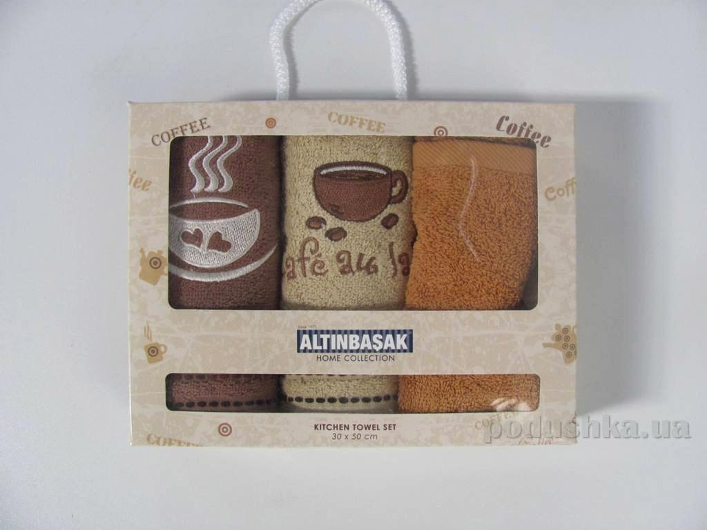 Набор махровых полотенец в коробке Altinbasak Mocha