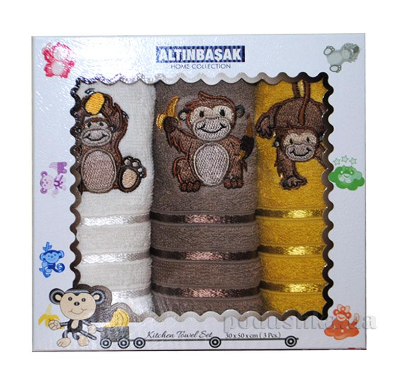 Набор махровых полотенец в коробке Altinbasak Orangutan