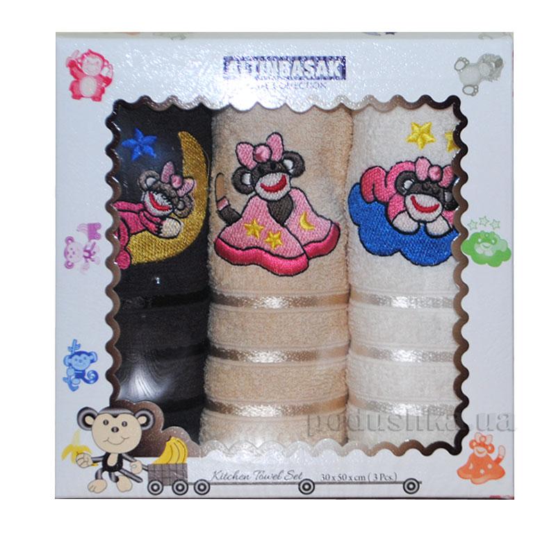 Набор махровых полотенец в коробке Altinbasak Uykusu Maymunlar