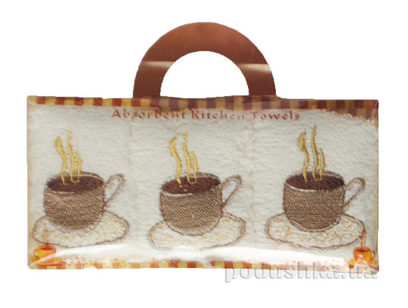 Набор махровых полотенец из 3 шт в коробке Arya Кофе