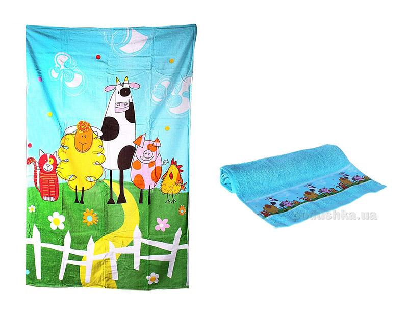 Набор махровых полотенец Веселая ферма