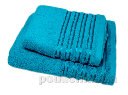 Набор махровых полотенец Vip cotton бирюзовый