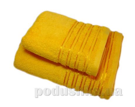 Набор махровых полотенец Vip cotton желтый
