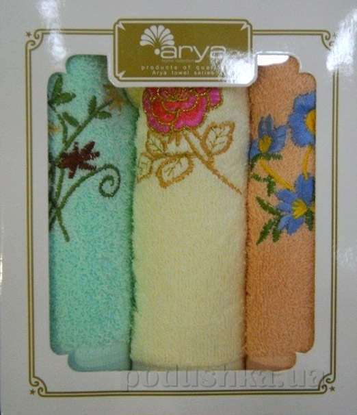 Набор махровых салфеток Arya 3 шт в коробке 1500120 33х76 см - 3 шт ARYA