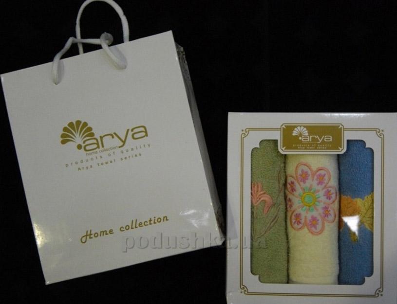 Набор махровых салфеток Arya 3 шт в коробке 1500123