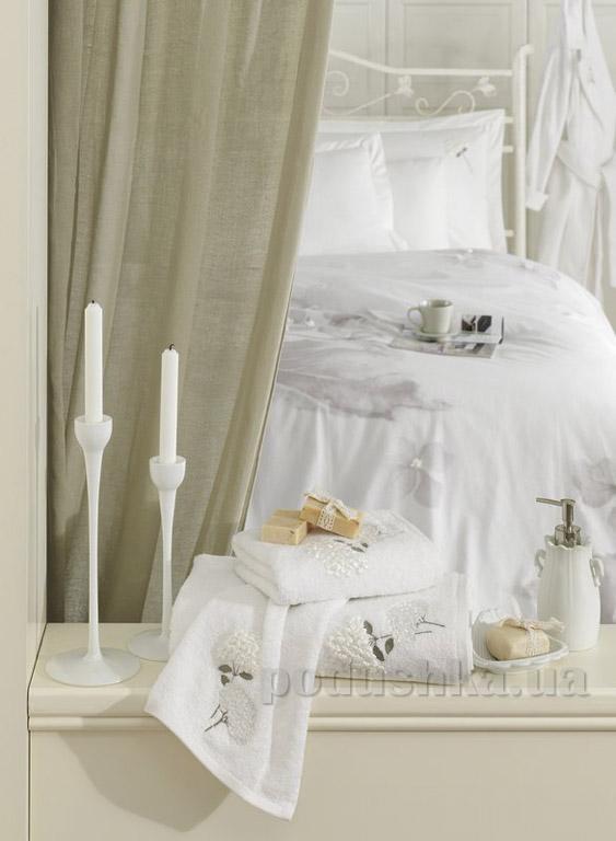 Полотенце махровое Ladinne Linda white-gri