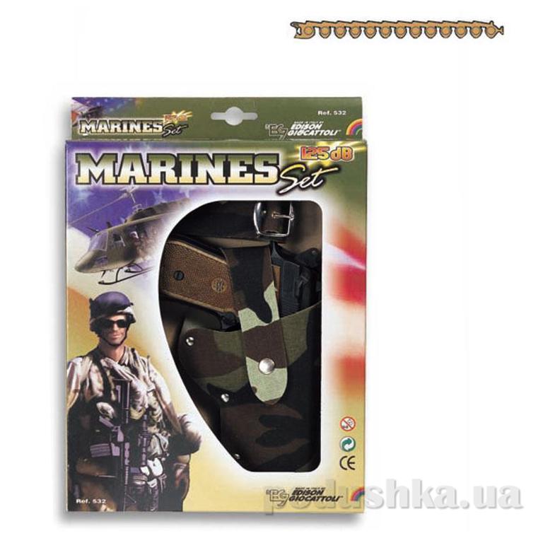 Набор Marines c 13-зарядным пистолетом стреляет пистонами Edison 0532.26