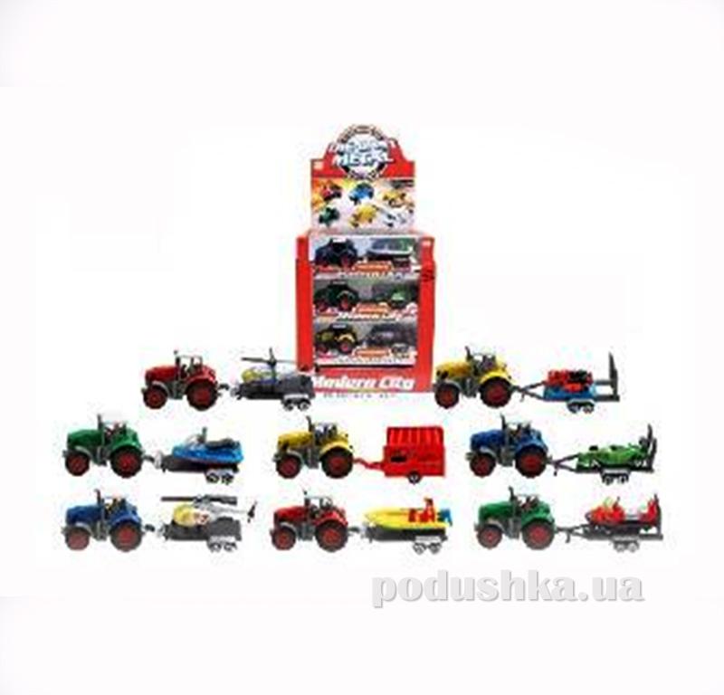 Набор машинок с прицепом Die-Cast 502990TP Car City