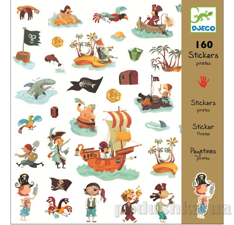 Набор наклеек 160 штук Пираты Djeco