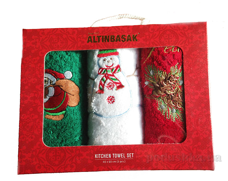 Набор новогодних полотенечек Altinbasak Happy Snowman