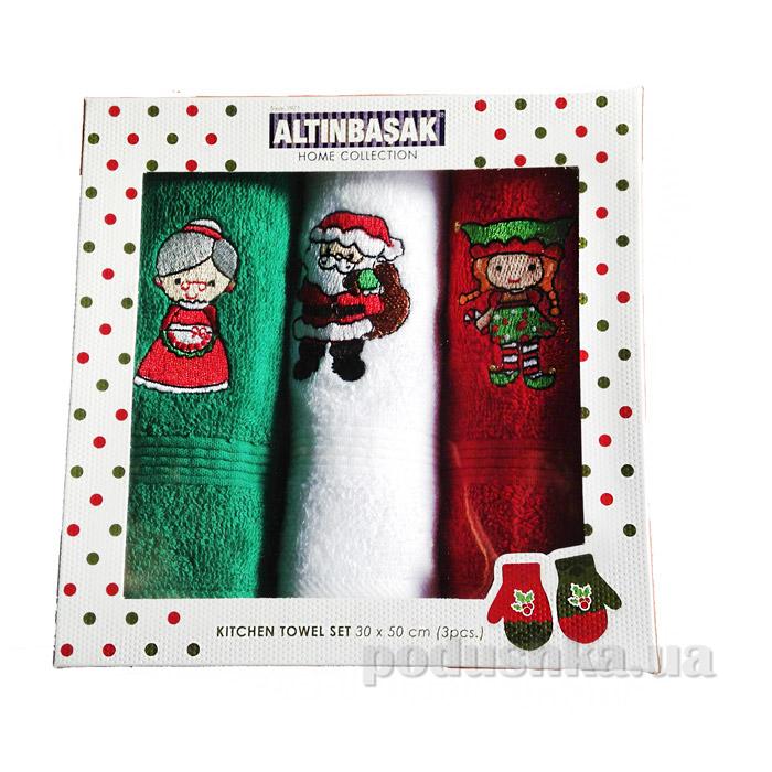 Набор новогодних полотенечек Altinbasak Noel ailesi
