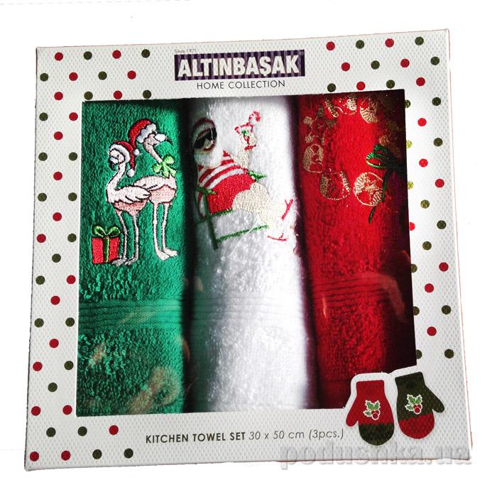 Набор новогодних полотенечек Altinbasak Noeli