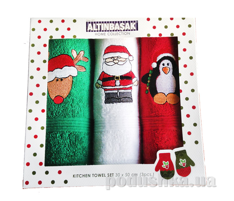 Набор новогодних полотенечек Altinbasak Sapkali noel