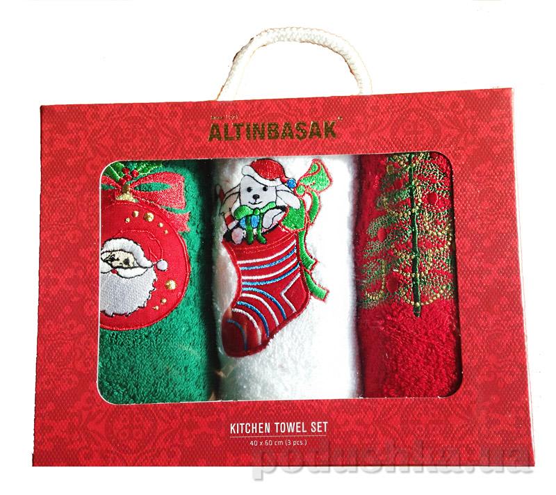 Набор новогодних полотенечек Altinbasak Tombul noel