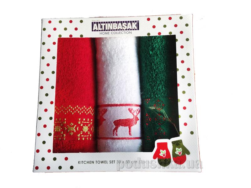 Набор новогодних полотенечек Altinbasak Noel Desen