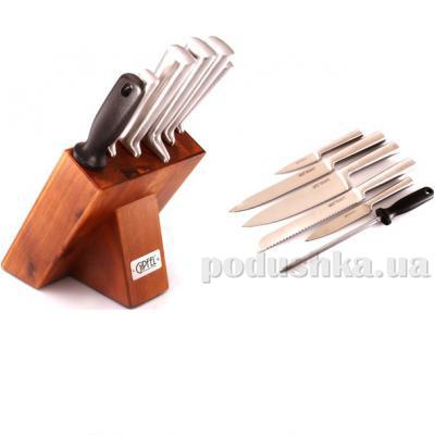 Набор ножей 7 пр. на деревянной подставке Gipfel