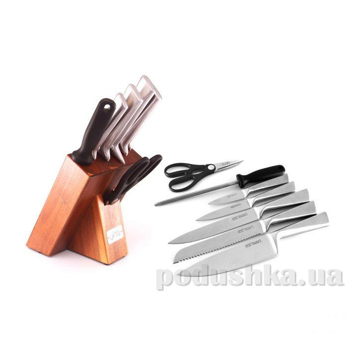 Набор ножей 8 пр. на деревянной подставке Gipfel (нерж сталь)