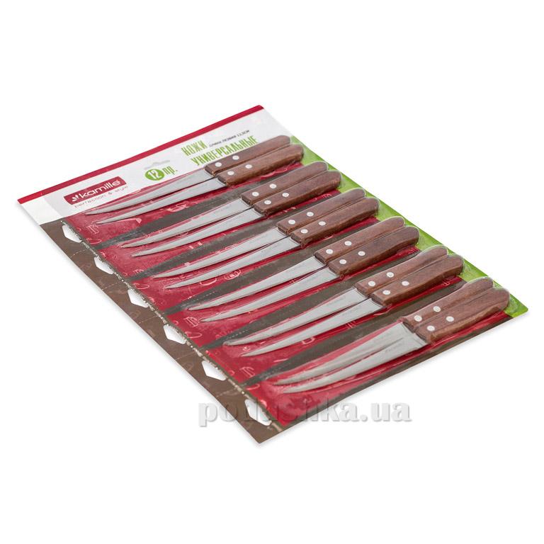Набор ножей Kamille 5304 с деревянными ручками