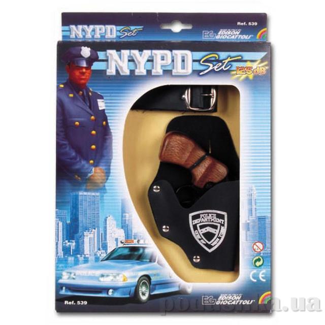 Набор NYPD с 8-зарядным пистолетом стреляет пистонами Edison 0539.26
