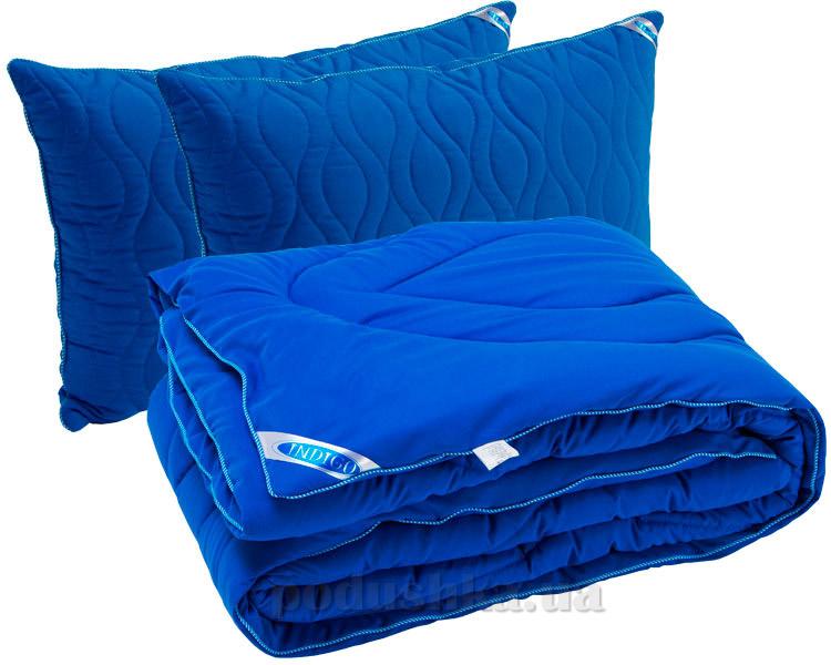Набор одеяло демисезонное и две подушки Руно Индиго
