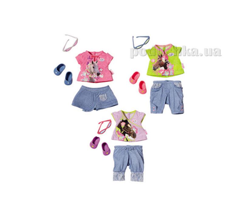 Набор одежды для куклы Baby Born Джинсовый костюмчик (3 в ассортименте) 819357