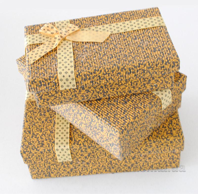 Подарочная коробка гофра в узорчик