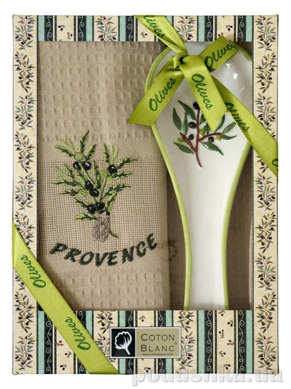 Набор подарочный Coton blanc бежевый (полотенце, ложка) 100011