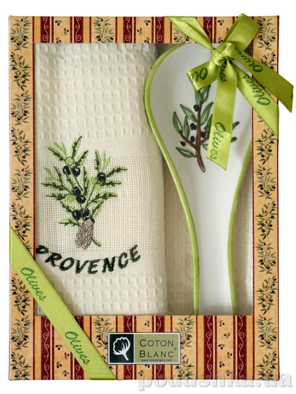 Набор подарочный Coton blanc кремовый (полотенце, ложка) 100010
