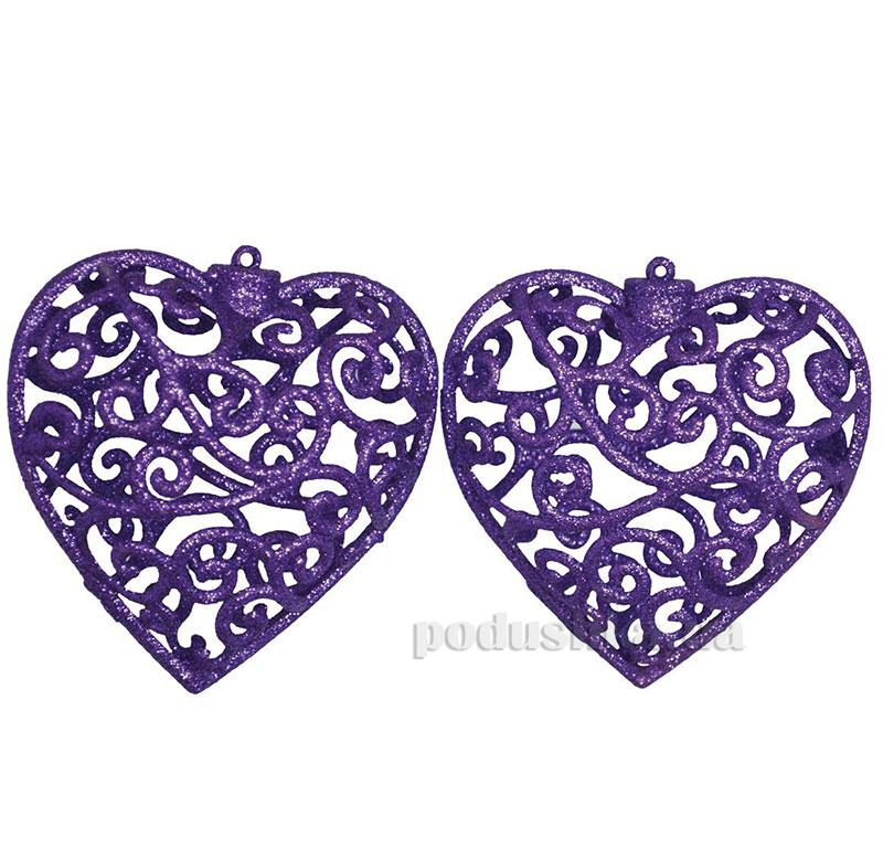 Набор подвесок Сердце фиолетовое 972002