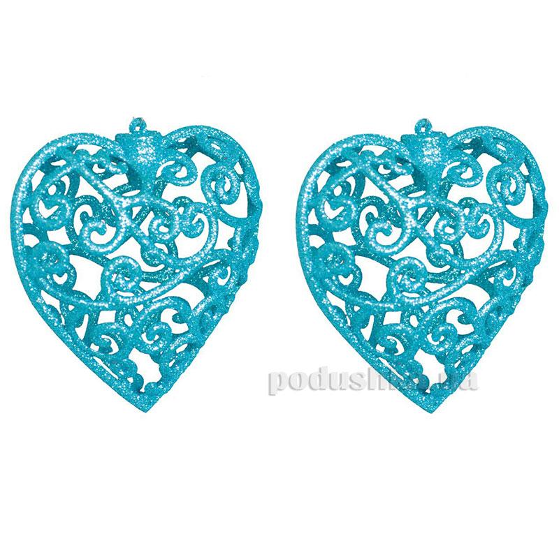 Набор подвесок Сердце голубое 972001