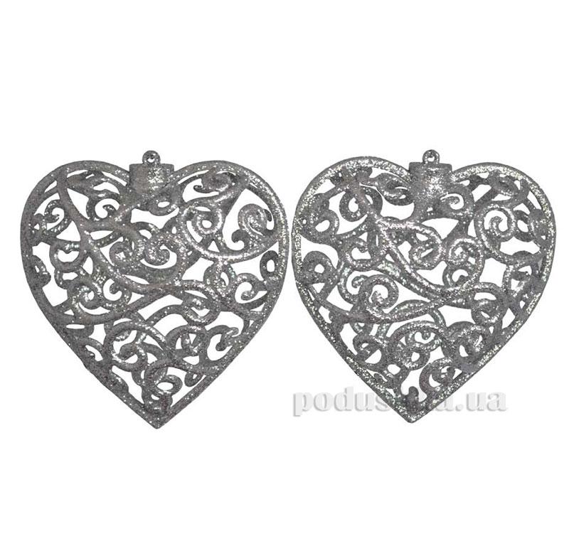 Набор подвесок Сердце серебро 972056