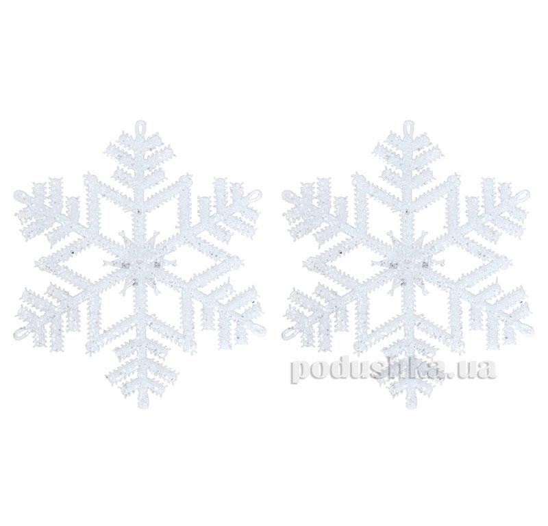 Набор подвесок Снежинка белая 972080