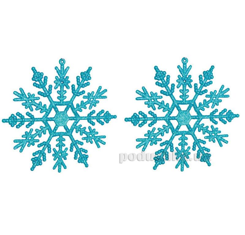 Набор подвесок Снежинка голубая 972013