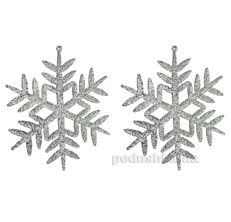 Набор подвесок Снежинка с глиттером Новогодько 972072