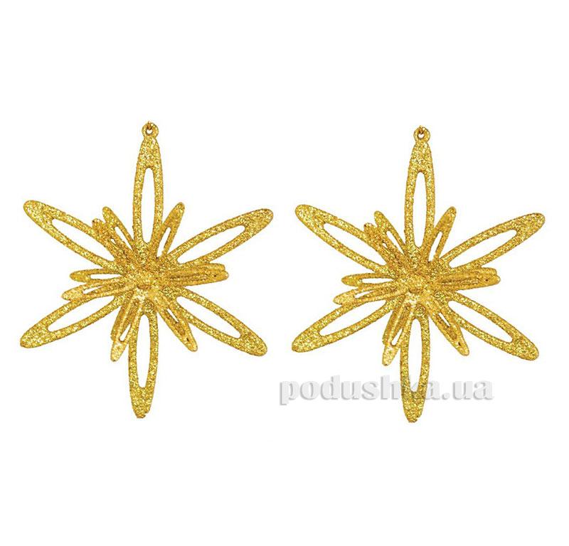 Набор подвесок Снежинки золото 972067