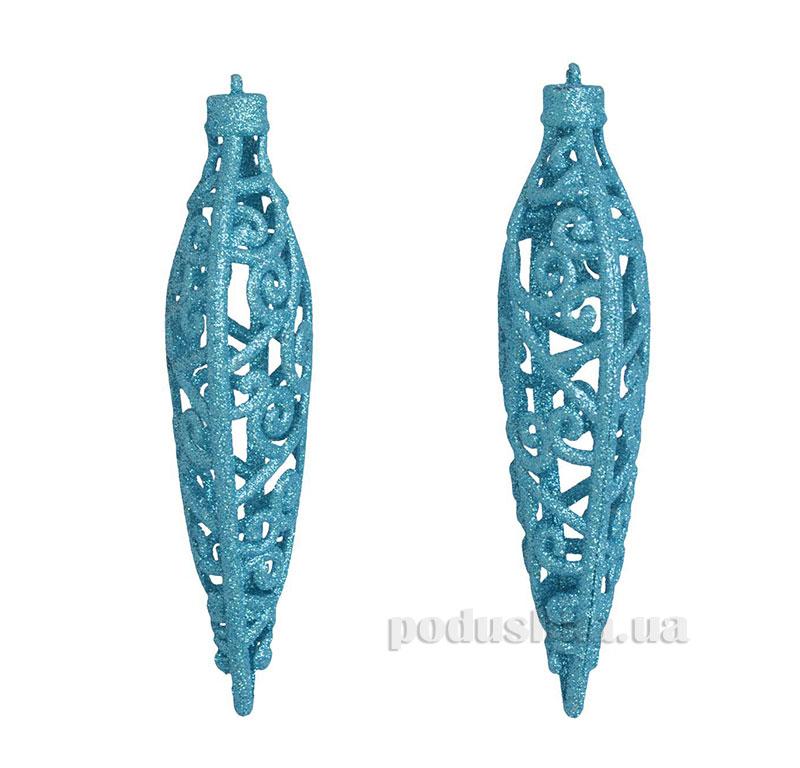Набор подвесок Сосулька голубая 972010