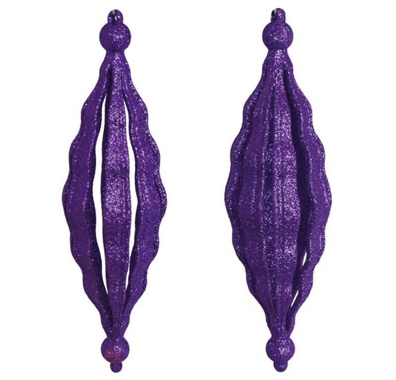 Набор подвесок Сосулька объемная фиолетовая Новогодько 971998