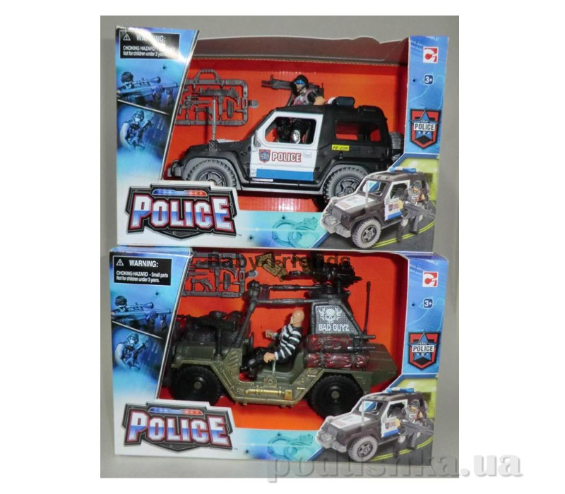Набор Полиция 2 - в ассорт. 2 вида ( полицейский джип или багги + фигурка полицейского или бандита)