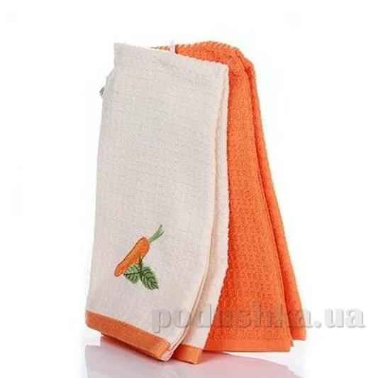 Набор полотенец для кухни Home line Морковь кремово-оранжевый