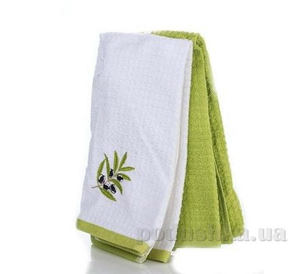 Набор полотенец для кухни Home line Оливки бело-зелёный