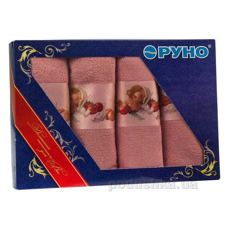 Набор полотенец для кухни Руно 708 розовый