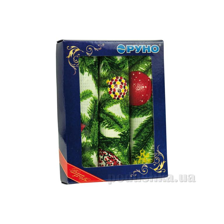 Набор полотенец для кухни Руно Новый год 3 шт