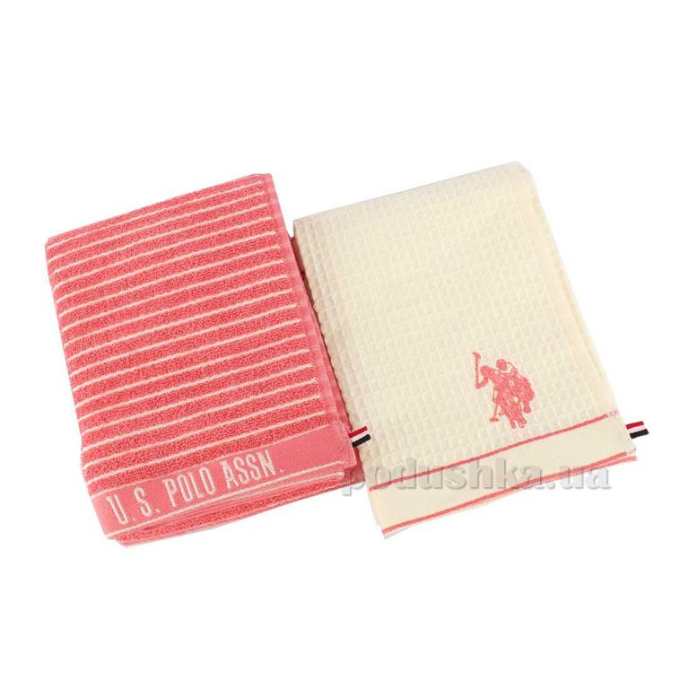 Набор полотенец для кухни U.S. Polo Assn Sturgis розовый